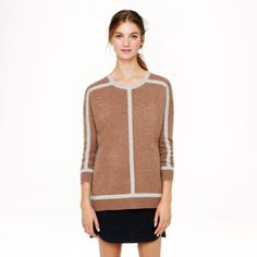 J.crew Collection Cashmere Tipped Sweater in Beige for Men (hthr acorn dusk)