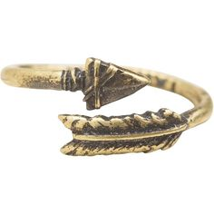 Love nail tree arrow ring ($30) ❤ liked on Polyvore featuring jewelry, rings, accessories, anéis, brass ring, brass jewelry, adjustable rings and wrap ring
