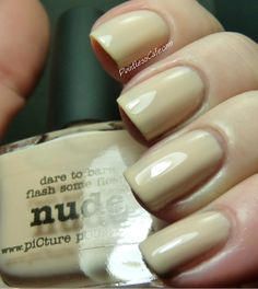 From the Vaults: NerdLacquer, a-England, Nails Inc., piCture pOlish and Some Nail Art | Pointless Cafe  piCure pOlish Nude
