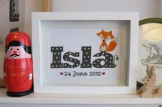 Mr Fox and the bluebell Cross stitch