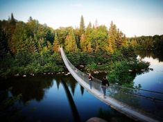 8 super cool bridges you MUST cross in Manitoba Suspension Bridge, Good Times, Places Ive Been, Landscape Photography, Old Things, Bucket, Canada, Fun, Travel