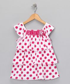 Take a look at this Pink Polka Dot Tunic - Infant & Girls by Molly's Closet on #zulily today!
