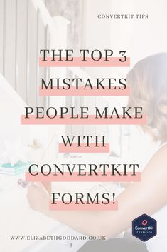 Are you guilty of making these mistakes in your ConvertKit forms? Don't worry if you are, the solutions are in this blog post! #ConvertKit #ConvertKitTips #ConvertKitTutorial #EmailMarketing #EmailMarketingForBusiness #OnlineBusinessTips