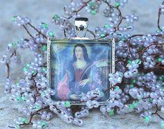 St Emerentiana - Religious Christian Catholic Medal Pendant Charm For Necklace #Religiousjewelry