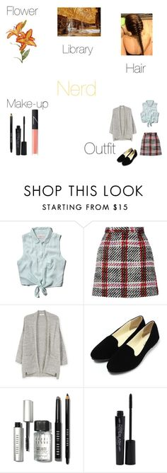 A fashion look from April 2016 featuring grey cardigans, button up shirts and plaid miniskirts. Browse and shop related looks. Photography Outfits, Clothing Photography, Carven, Nars Cosmetics, Abercrombie Fitch, Bobbi Brown, Mango, Shoe Bag, Polyvore