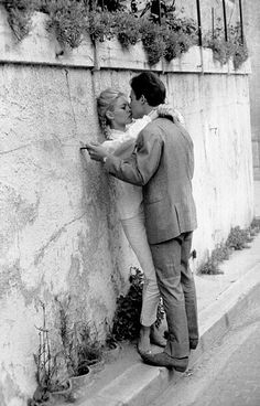 Brigitte Bardot and Jacques Charrier on their honeymoon (June 1959).