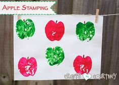 Apples are a GREAT crafting material and this stamping craft proves it! With an apple, paint and imagination, your child will have a blast making fun art.