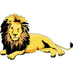 Lion Clipart and Animations ❤ liked on Polyvore featuring animals