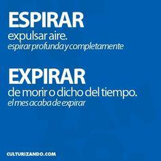 Espirar/Expirar