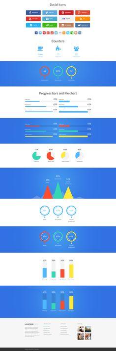 Monstroid Infographics, #SocialIcons, #counters, #progressbar, #webdesign: http://www.templatemonster.com/wordpress-themes/monstroid/?utm_source=pinterest&utm_medium=timeline&utm_campaign=submonstr