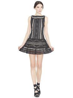 WENDIE DROP WAIST DRESS by Alice + Olivia