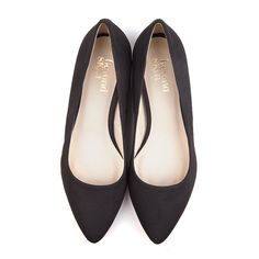 36838ad89203 Beyond Skin Shelley black pointed vegan flat court shoe with built in 1cm  lift in heel · Black Flats ShoesSuede ...