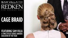 Cage Braid Ponytail | Sam Villa for Redken | Simple Hairstyles