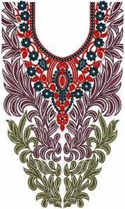 Neck Embroidery Design 10590