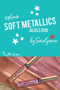 LipSense Soft Metallic Gloss Duo by SeneGence was released and these glosses are ALL THE RAGE!  Add this MUST HAVE set to your purse or makeup bag NOW!  You will want both Metallic Nude & Metallic Rose gloss to call your own.  Don\'t miss out on this Limited Edition set.  Also, think of mom as you grab your own - Mother\'s Day is around the corner and these could be the perfect gift for her!  You might need a FEW sets!!