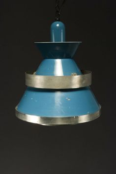 Anonymous; Brass and Enameled Aluminum Ceiling Light, 1950s.