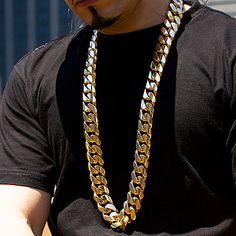 This Custom Made 1.5 Kilo Miami Cuban Link Chain in solid 14K gold weighs approximately 1,635 grams (3.6 pounds) and showcases fantastic craftsmanship and a highly polished gold finish. Hand Made in USA. Wear this chain by itself or paired with a matching Kilo Miami Cuban Link bracelet for a super lux look. This chain can also be custom made with any color, quality and size diamonds or other gemstones.