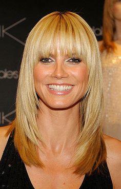 """Heidi Klums Frisuren   Ähnliches Phänomen wie bei Jennifer Anistons """"Friends""""-Cut: Diese Klum-Frisur aus dem Jahr 2008 kopierten Frauen"""