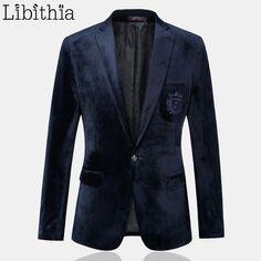 Jaquetas homens Terno de Veludo Ouro Masculino Vestidos de Designers Da Marca de Moda de Alta Qualidade Blazer Ocasional Slim Fit Negócios Vestido M-3XL E213