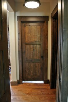 Rustic Wood Interior Doors future interior doors for our remodel /board and batten interior