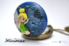 Colgante / Reloj Camapanilla Hada Peter Pan por MinimasdeFimo