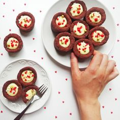 Be the Sweetest Valentine With This Red Velvet Cheese Custard Tarts Recipe via Brit + Co