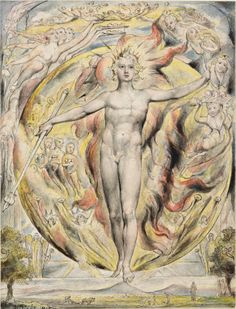 """William Blake. """"The Sun at His Eastern Gate"""" from John Milton's L'Allegro. Purchased with the assistance of the Fellows with the special support of Mrs. Landon K. Thorne and Mr. Paul Mellon, 1949; 1949.4:3"""
