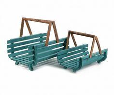 Set 2 suporturi pentru lemne Slats