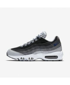 60751d2dfce4 Nike Air Max 95 Essential Wolf Grey Black Dark Grey Game Royal Mens Shoes  Outlet Air