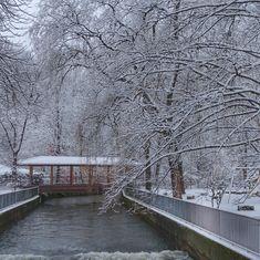 munich | germany | münchen | deutschland | untergiesing | holzbrücke über auer mühlbach im winter
