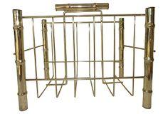 Brass Bamboo Magazine Rack on OneKingsLane.com $95.