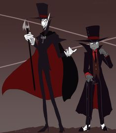Crossover Art Vampair x Villainous - Duke and Black Hat Cartoon Crossovers, Cartoon Movies, Cartoon Art, Cartoon Network, Manga, Villainous Cartoon, Vampire Series, Shadow Art, Mythological Creatures