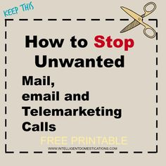 Would you like to know how to stop junk mail? Are you tired of receiving credit offers? Enjoy this Free Printable to keep. via Great resource list! Life Hacks Computer, Iphone Life Hacks, Computer Basics, Computer Help, Computer Tips, Computer Password, Computer Desks, Cell Phone Hacks, Smartphone Hacks