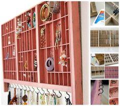 Repurposed Tray / 25 Clever DIY Ways To Keep Your Jewelry Organized (via BuzzFeed)
