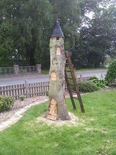 Idee für einen Baumstumpf Bauanleitung zum selber bauen