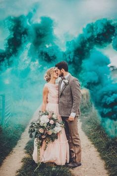 Smoke bombs of every colour add big drama to wedding, engagement and just-for-fun photos. (Searches for smoke-bomb photography This inspiring wedding photo with smoke bombs is by Poppy Carter Portraits. Wedding Photographer Cost, Wedding Photography Pricing, Wedding Photography Poses, Wedding Portraits, Photography Ideas, Photography Essentials, Wedding Photography Packages, Photography Business, Couple Photography