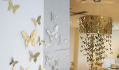 10 pieces DIY 3D Butterfly stainless steel butterfly wall decoration for Home Showcase 16051905