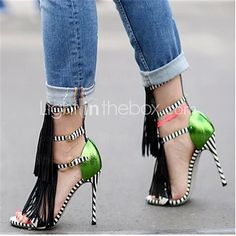 Women's Shoes Stiletto Heel Heels Sandals Party & Evening/Dress Black | LightInTheBox