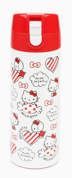 Hooray! Our popular Hello Kitty Stainless Steel Water Bottles are now available with a flip-top design. The new super secure lid includes a sipping ledge to counter embarrassing spills.
