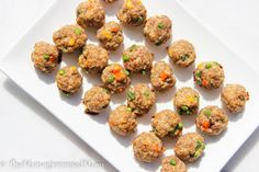 The Monogrammed Mom: Toddler Turkey Meatballs {Gluten-free} Toddler Friendly Meals, Toddler Meals, Kids Meals, Toddler Food, Vegan Gluten Free, Gluten Free Recipes, Dairy Free, Baby Food Recipes, Cooking Recipes