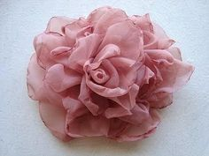 EASY METHOD, BEAUTIFUL SILKY FLOWER # 2, DIY fabric flower tutorial (+pl...