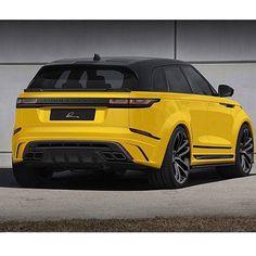 "- Range Rover UAE ""Range Rover Velar with Lumma design Range Rover Evoque, Bmw M4, Super Sport, Supercars, Range Rover Discovery, Rv Truck, Dually Trucks, Yellow Car, Bugatti Cars"