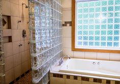 Glass Block allows for amazing natural lighting in bathrooms, while providing the necessary privacy