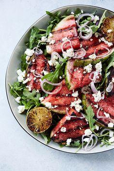 Grilled Watermelon Salad with Arugula, Feta and Charred Limes // @tastyyummies // www.tasty-yummies.com