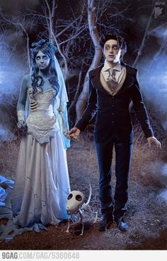 Emily and Victor Van Dort from Corpse Bride... Me and Jesse need to be this for Halloween!