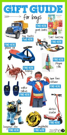 Over 100 Gift Ideas for Everyone on You List! // Gift Guide for Boys #howdoesshe