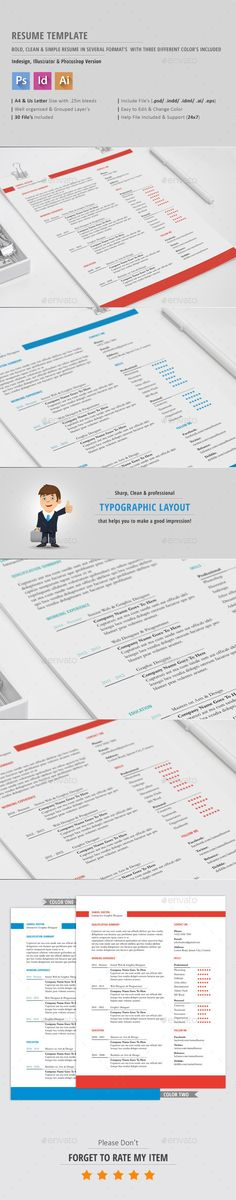 Resume Template Resume templates, Resume and Templates - size font for resume