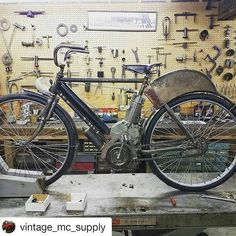 Repost. 1906 motorized bicycle.