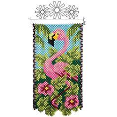 Herrschners® Tropical Flamingo Beaded Banner Kit