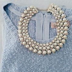 I have this gorgeous pearl tone chunky necklacefor sale on Poshmark: ☆☆HP 2|16|15☆☆ Pearl chunky statement  necklace. Check it out!  Size: OS